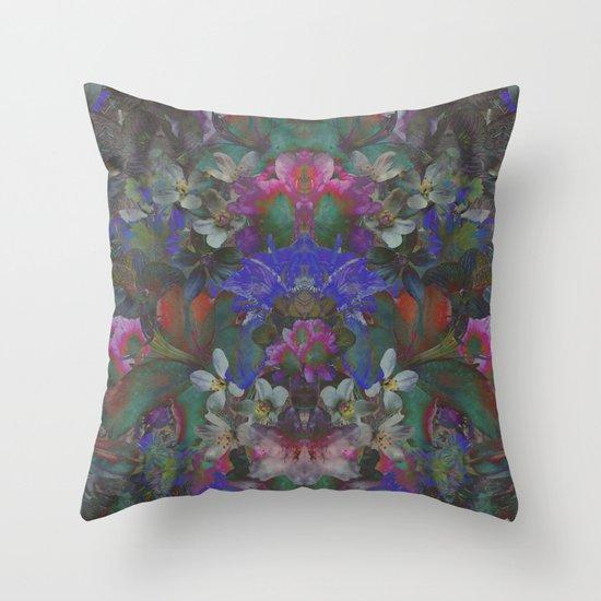 Midnight Garden Throw Pillow