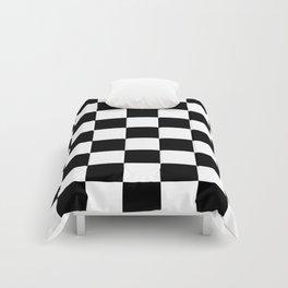 Black&White Checkered Pattern Comforters