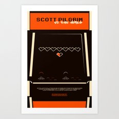 scott pilgrim vs. the world. Art Print