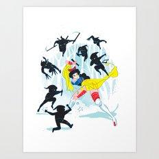 Tales of a Snow Geisha Art Print