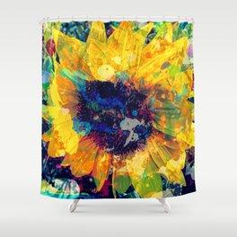 Sunflower Batik Shower Curtain