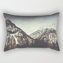 End of Winter in the Mountains Rectangular Pillow