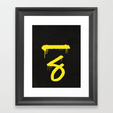 No. 7. Dead Man Framed Art Print