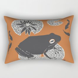 Frog on a Lily Pad Rectangular Pillow