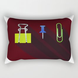 Paper Clip Tack Rectangular Pillow