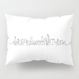 Chicago Skyline Drawing Pillow Sham