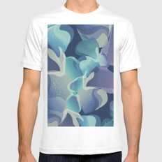 Micro Blue Mens Fitted Tee MEDIUM White
