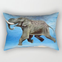 Rajan The Swimming Elephant Rectangular Pillow