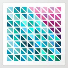 Triangles #7 Art Print
