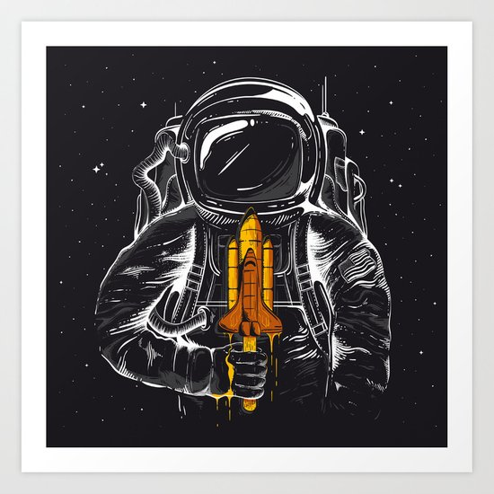 Space Popscicle Art Print