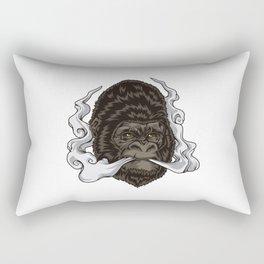 Vaping Gorilla Illustration | Monkey Vape Rectangular Pillow