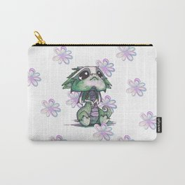 Baby Dragon with Flowers Carry-All Pouch