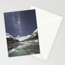Starry Nights in Mt Cook, New Zealand Stationery Cards