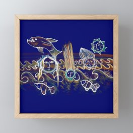 More Suns for Life at Deep Blue Framed Mini Art Print