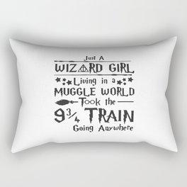Just A Wizard Girl Rectangular Pillow