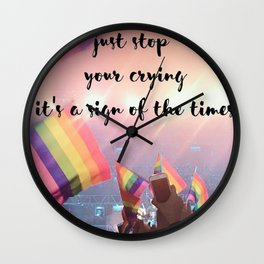Harry Styles - rainbow flag Wall Clock