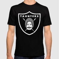 Taunters Black LARGE Mens Fitted Tee