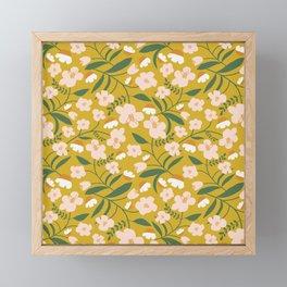 Vintage Inspired Floral Framed Mini Art Print