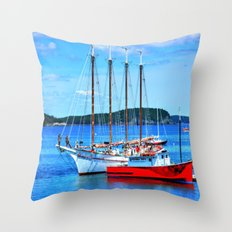 Maine Life Throw Pillow