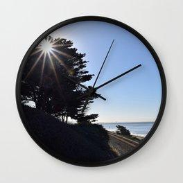 Sun, sky and rail. Wall Clock