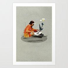 Blind, deaf too | Collage Art Print