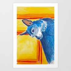 toothy dog Art Print