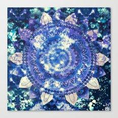 Boho Grape Fizz Mandala Canvas Print