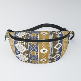 Colorful Aztec pattern with gold. Fanny Pack