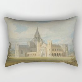 "J.M.W. Turner ""Fonthill Abbey in Wiltshire, England from the south west"" Rectangular Pillow"