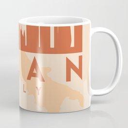 MILAN ITALY CITY MAP SKYLINE EARTH TONES Coffee Mug