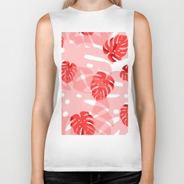 red monstera Biker Tank