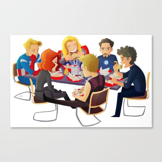 Avengers- Shawarma Canvas Print