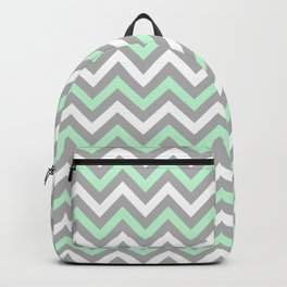 Chevron - mint and grey Backpack
