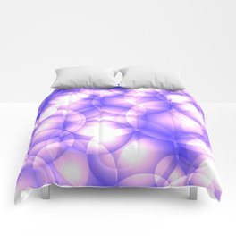 Gentle intersecting purple translucent circles in pastel shades with glow. Comforters