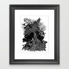 tree kids Framed Art Print