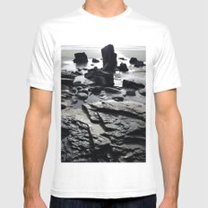 Monolith Mens Fitted Tee White SMALL
