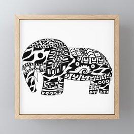Mr elephant ecopop Framed Mini Art Print