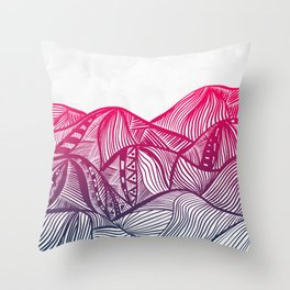 Lines in the mountains 05 Throw Pillow