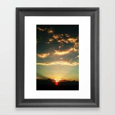 Sunset Blue Framed Art Print