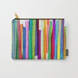 Colorful Stripes 1 Carry-All Pouch