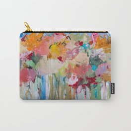 Spring Bloom Flower's Garden Abstract Contemporary Original Art Carry-All Pouch