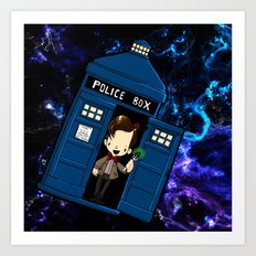 Tardis in space Doctor Who 11 Art Print