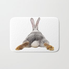 Cute Bunny Rabbit Tail Butt Image Easter Animal Bath Mat