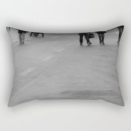 walking on the street Rectangular Pillow