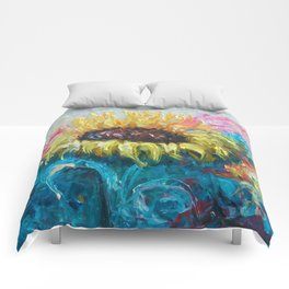 Sunny Flower by Lena Owens Comforters