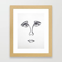Face 4.0 Framed Art Print