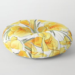 the daylily Floor Pillow