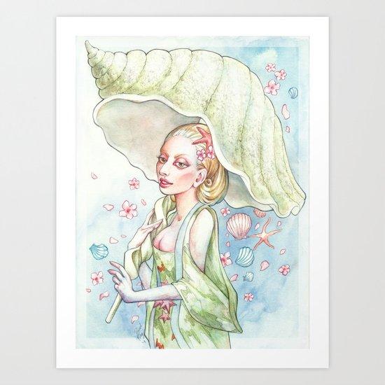 Oriental Nymph Art Print