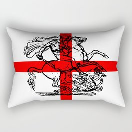 George and the Dragon Patriotic Flag Rectangular Pillow