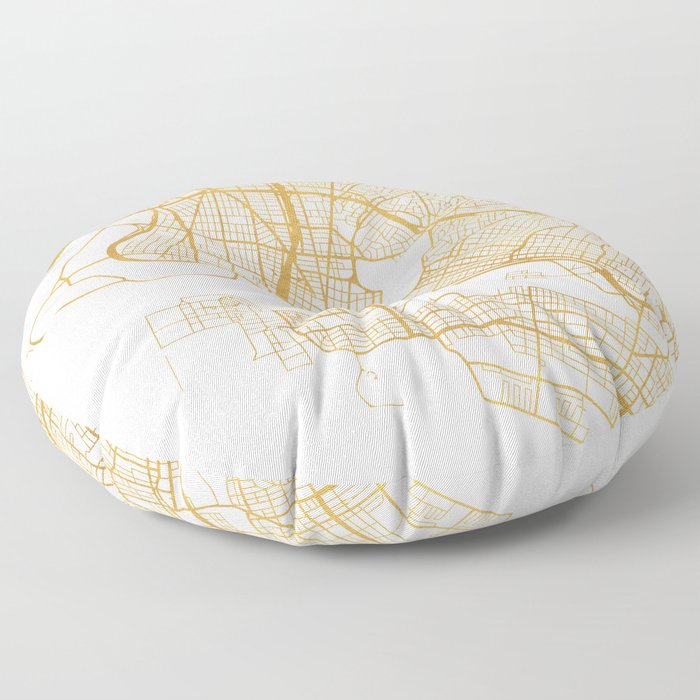 OAKLAND CALIFORNIA CITY STREET MAP ART Floor Pillow